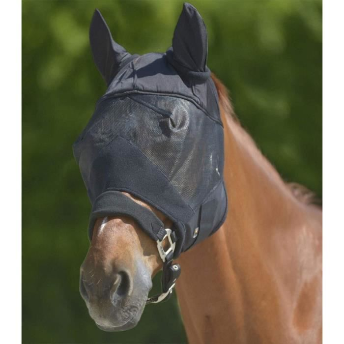 Masque Premium oreilles Noir Cheval