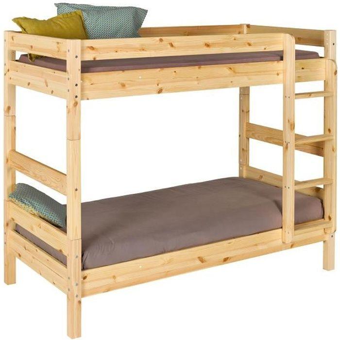 lit 90x190 bois achat vente pas cher. Black Bedroom Furniture Sets. Home Design Ideas