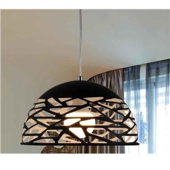 30cm Creux 1kg Luminaire Design Fer Lustre Intérieur E27 60w Noir Ajustable Salle Manger 110 220v À Suspension 1m xdCoBre