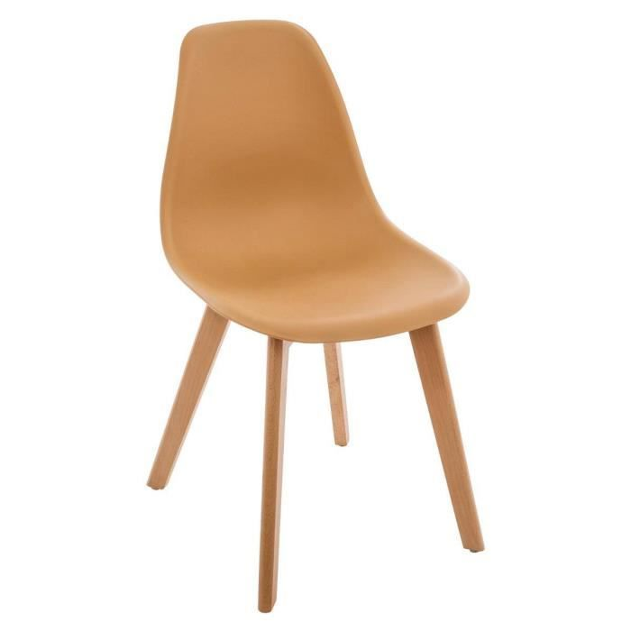 Chaise Scandinave Moutarde ZEPA Autres Cacao Jaune