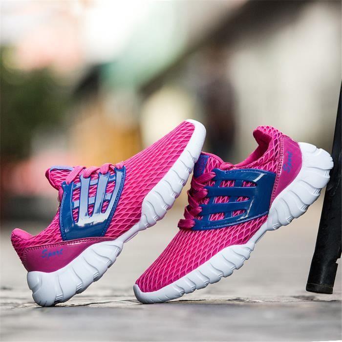 Basket Femme Chaussures Poids Léger Antidérapant décontractées Surface de maille Nouvelle arrivee Plus De Couleur Taille 36-40 bhXHnioc