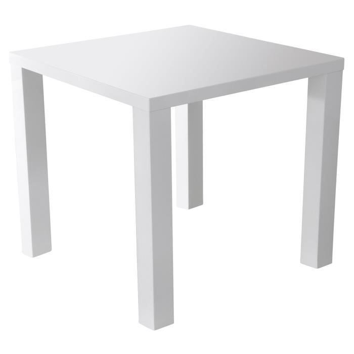 Gloss table manger carr e 2 4 personnes style - Table carree laquee blanc ...