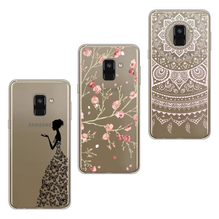 3x coque samsung galaxy a6 2018 5 6 couvercle en silicone souple ultra mince fille femmes. Black Bedroom Furniture Sets. Home Design Ideas