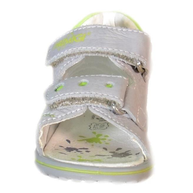 Primigi Sandales pour Garçon Gris Cuir Velcro 86241