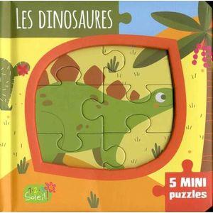 Livre 3-6 ANS Les dinosaures. 5 mini puzzles