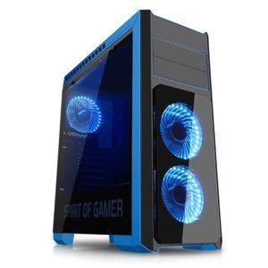 SPIRIT OF GAMER Boîtier PC Gamer Rogue III - Bleu