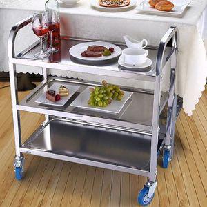 CHARIOT - PANIER Chariot de Service Desserte à Roulettes Stockage R