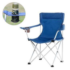 SIÈGE DE PÊCHE Chaise pliante- Plage de loisirs Camping# Bleu