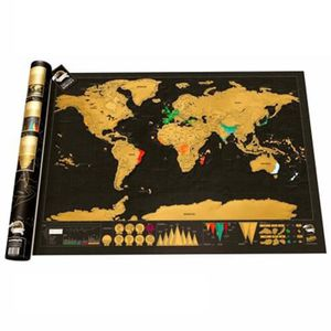 CARTE - PLANISPHÈRE Affiche de carte du monde à gratter 24,49 x 1,46 x