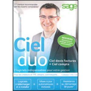 PROFESSIONNEL À TÉLÉCHARGER Logiciel Comptabilité- Ciel Duo - Abonnement 12 mo