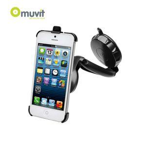 FIXATION - SUPPORT Support Voiture à Ventouse Noir Muvit pour Apple