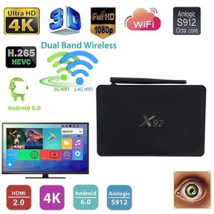BOX MULTIMEDIA X92 Media Player pour Android 6.0 Smart TV Box 3+1