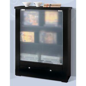 Meuble de rangement vitre achat vente meuble de rangement vitre pas cher cdiscount - Meuble tv avec porte vitree ...