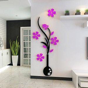 VASE - SOLIFLORE autocollant 3D vase en Acrylique en forme de vase