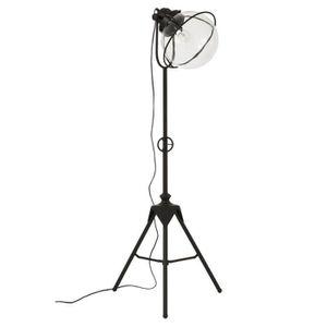 LAMPADAIRE Lampadaire Métal/Verre noir - MARSOUIN - L 34 x l