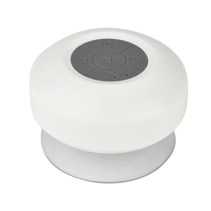 Mains-libres Bluetooth Étanche Mini Haut-parleur Micro Sans Fil Aspiration Pour Douche Wh @5916