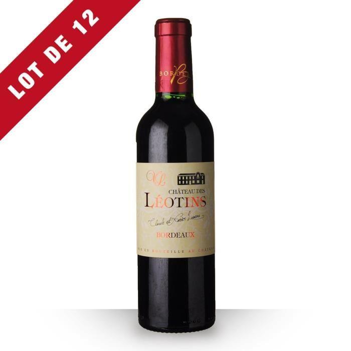 VIN ROUGE 12X Château des Léotins 2016 Rouge 37,5cl AOC Bord