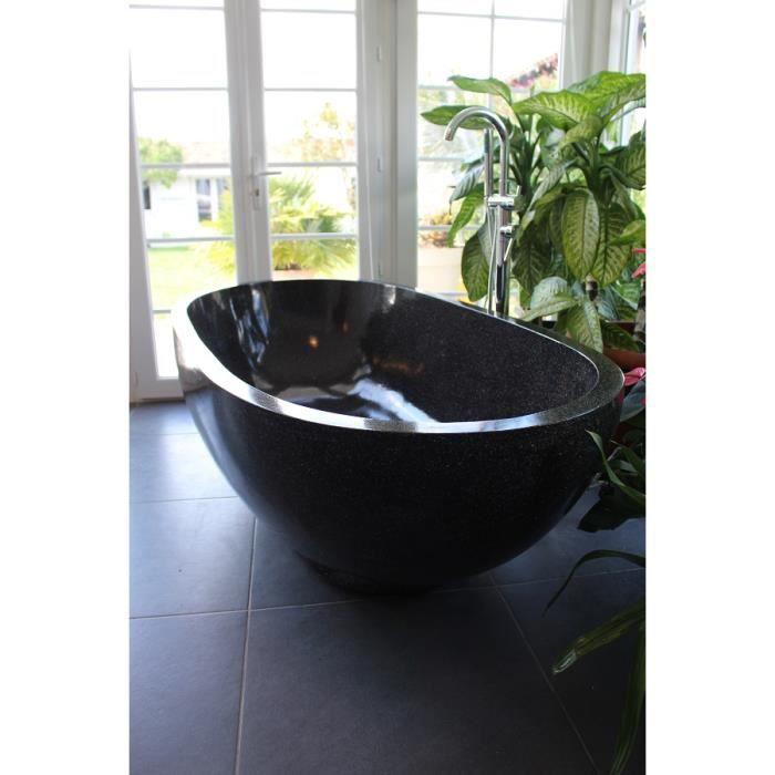 baignoire ilot noire mat. Black Bedroom Furniture Sets. Home Design Ideas