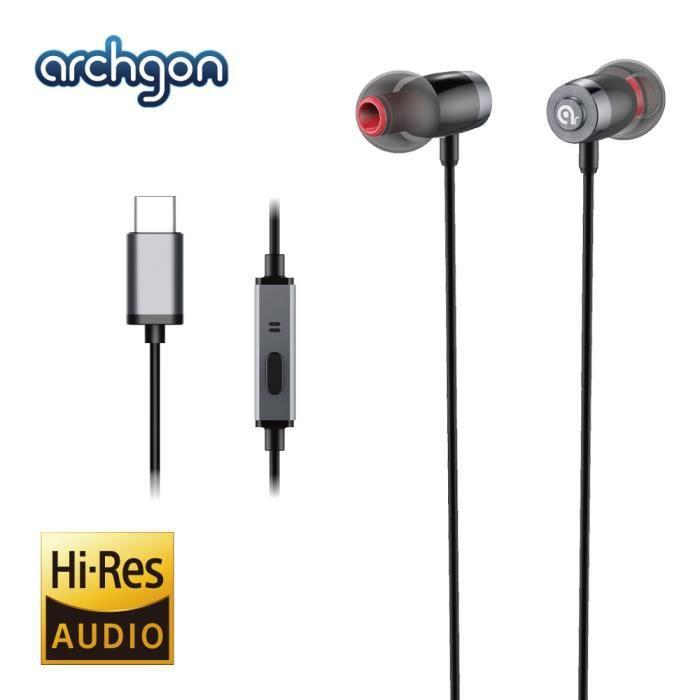 Archgon Ae-01ck Wave Type-c Écouteurs Intra-auriculaires De Haute Qualité