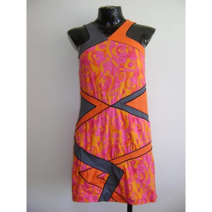 XL ROBE US COLORE BAMBOOS DOS ORANGE 44 TAILLE SYYwFqCf