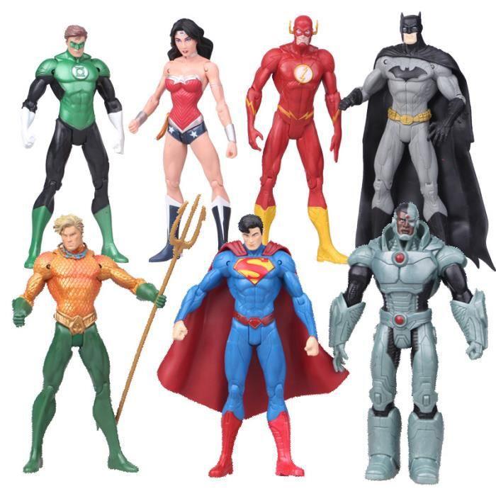 Super Wonder Dc Femmes Batman Héros Pvc 7pcs Figurines Jouets 18cm K1Jc3lFT