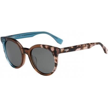 Achetez Lunettes de soleil Fendi Femme FF 0064 S MYA (8A) vertes marron  havane - Achat   Vente lunettes de soleil Femme Adulte - Soldes  dès le 9  janvier ! c06c0b3c17c