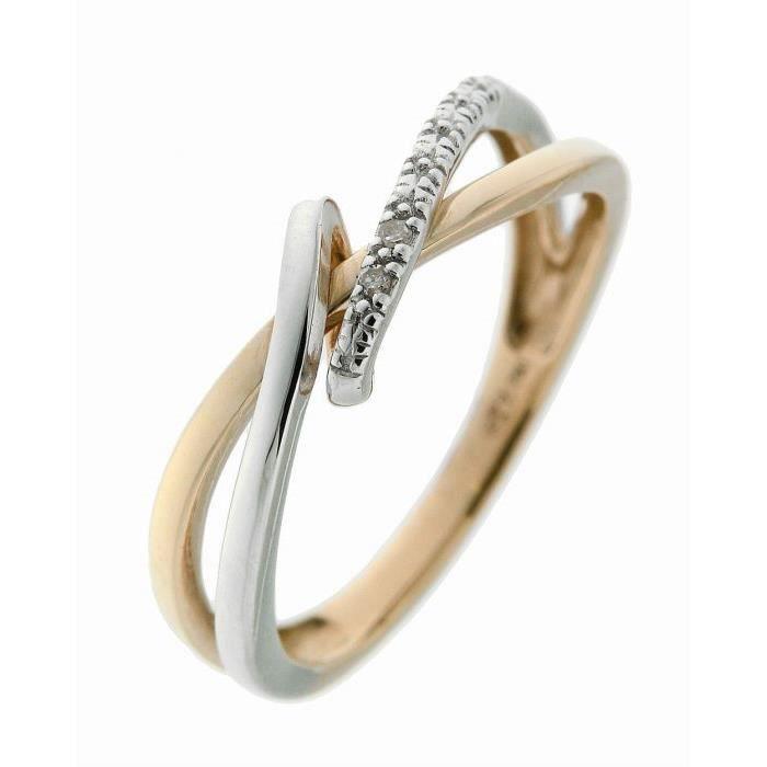 292eeb412e1bc Bague or jaune Diamant Blanc - Achat / Vente bague - anneau Blanc ...