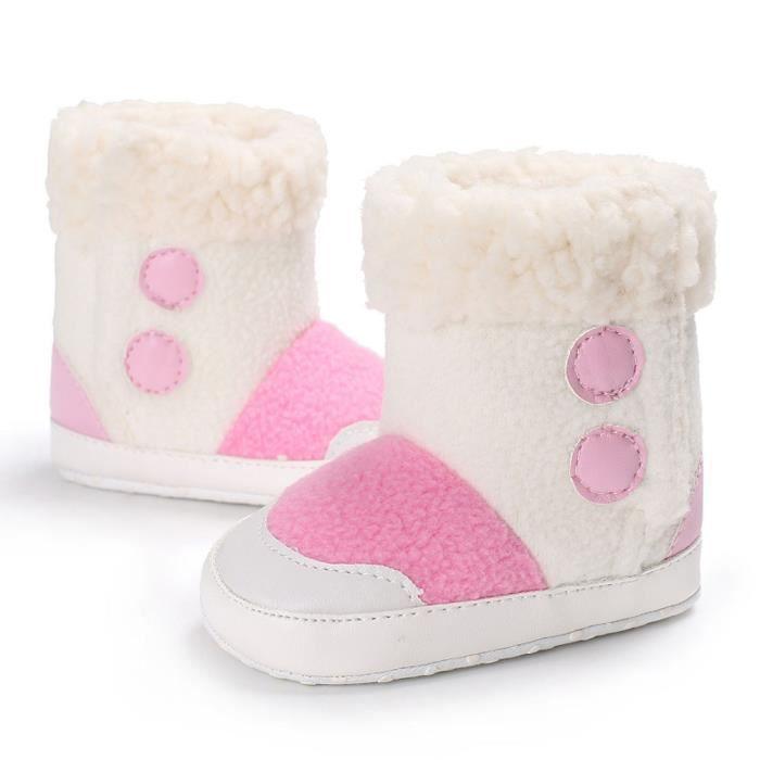 Soft De Nouveau Revesaleer®bébé Rose Neige Tout petits Réchauffement Semelle Garçons né Bottes Chaussures Fille Bébés 0XnwPk8O