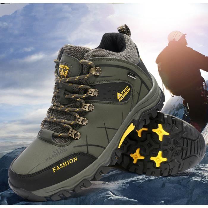 En Cuir Olali® Hommes Chaussures Chasse Montagne Randonnée