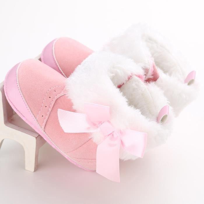 Rose-Hiver Bébé Nouveau Chaussures Loisirs Fond mou Velcro Chaussures de bébé en bas âge eM2S9