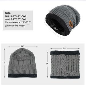 5c96dd316f7 ... BONNET - CAGOULE Bonnet tricoté chaud et écharpe circulaire