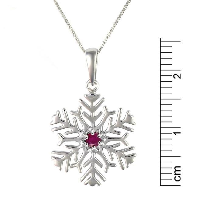 135p1402-05 - Collier Femme - Or Blanc 375-1000 (9 Cts) 1.716 Gr - Rubis V0CQ3