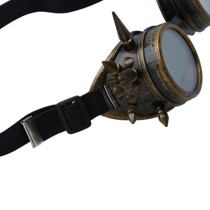Napoulen®Vintage victorienne steampunk lunettes de soudage cyber punk gothique cosplay XXP71231439