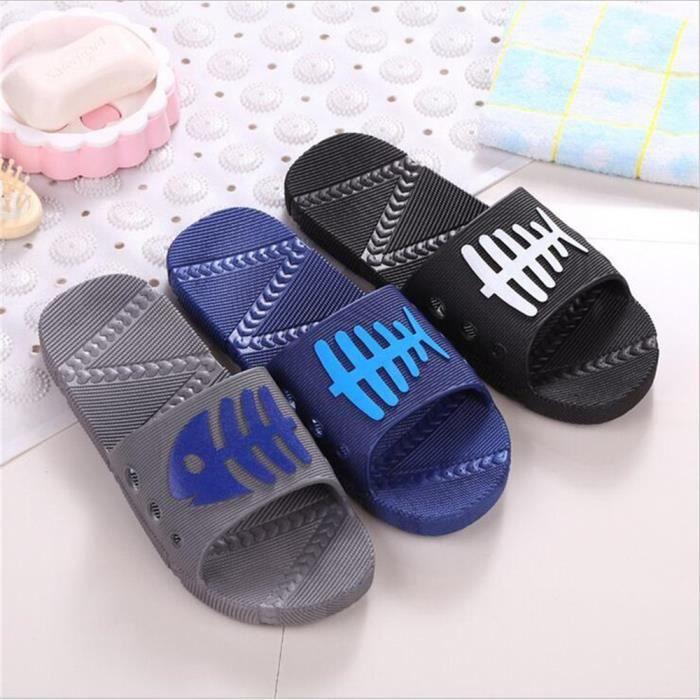 Chaussures Tongs Marque De Luxe Marque Pantoufle Loisirs Sandale Massant Fond Plat Sandale Luxe Hommes Grande Taille 40-45,gris,43