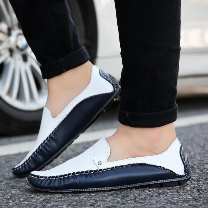 Business Blue Mocassins Chaussures style britannique Chaussures Doug hommes