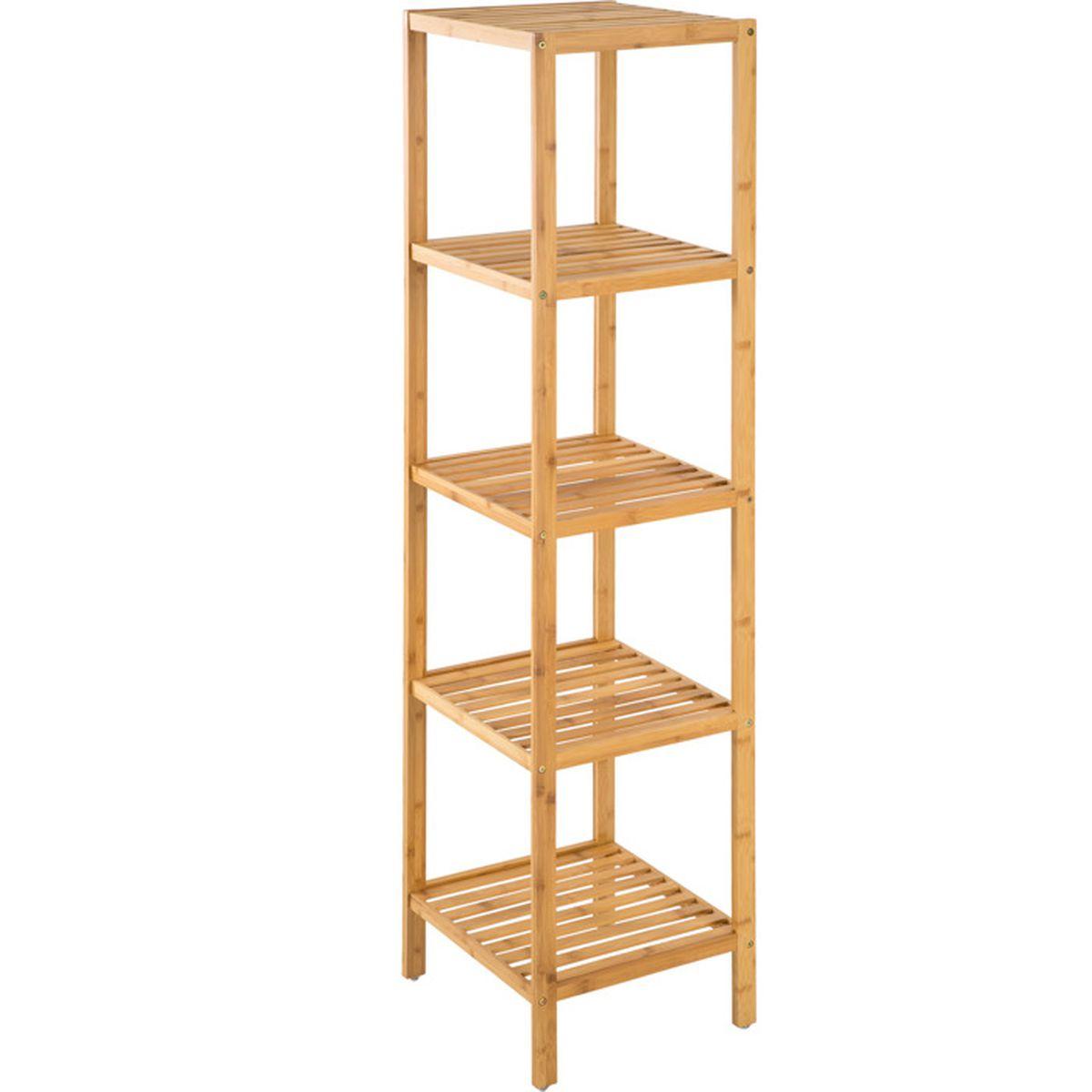 Etagere en bambou pour salle de bain echelle bambou salle - Etagere salle de bain bois ...