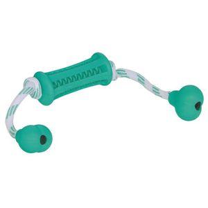 NOBBY Jouet Dental os et corde en caoutchouc - Menthe - 37cm - Pour chien