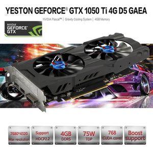 CARTE GRAPHIQUE INTERNE 2019 Yeston GeForce GTX GPU 1050Ti 4 Go GDDR5 128b