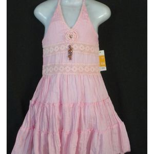 ROBE ROBE ROSE PALE  DOS NU A VOLANTS 2 ANS