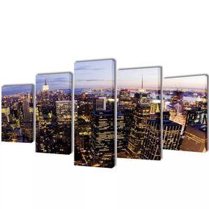 TABLEAU - TOILE Set de Toiles Imprimées  Murales Horizon de New Yo