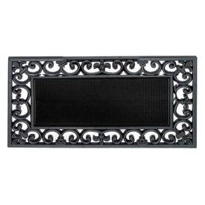 PAILLASSON Paillasson jardin caoutchouc noir arabesques Noir