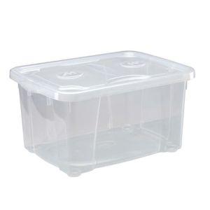 BOITE DE RANGEMENT M-HOME SIMPLYBOX Bac de rangement 15,4L transparen