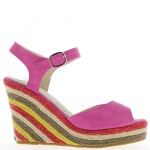 Sandales fuschias à talon compen… x8ARsmOk2A