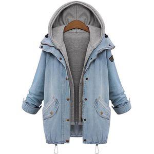 BLOUSON Bleu Manteau en Denim Veste Jeans 2Pièces Blouson