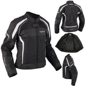 af5030e2eab BLOUSON - VESTE Textile Moto Blouson Femme Protections CE Respiran ...