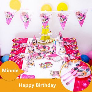 KIT DE DECORATION 90pcs Minnie Luxury Anniversaire Party Decoration
