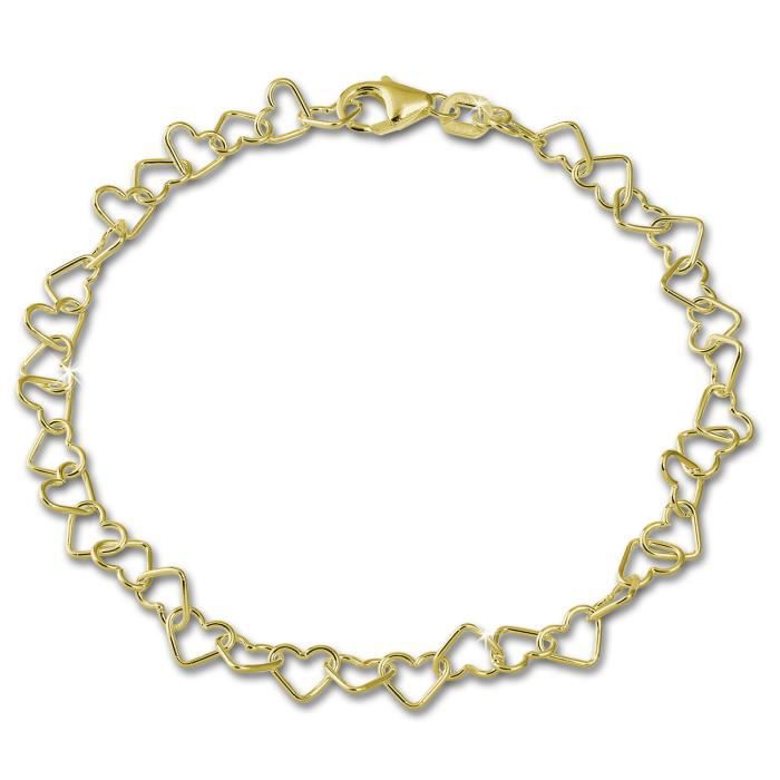 SilberDream Bracelet - Cœur - Or 333 - 18,5cm 8 Carat GDA0148Y