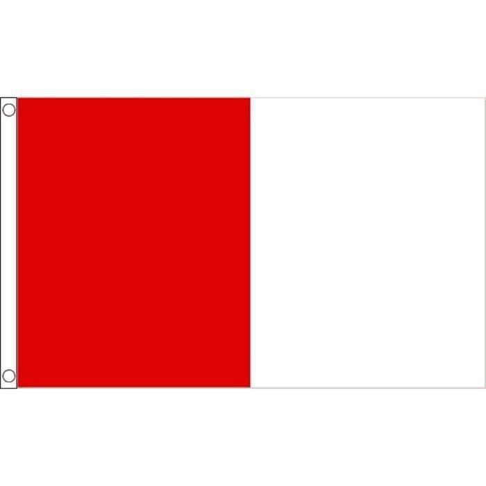 Drapeau rouge et blanc 150x90cm deux couleurs haute for Bureau rouge et blanc