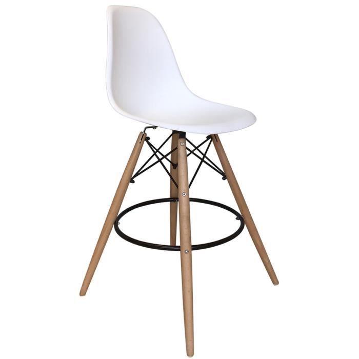 Chaise De Bar Scandinave Goteborg Blanc