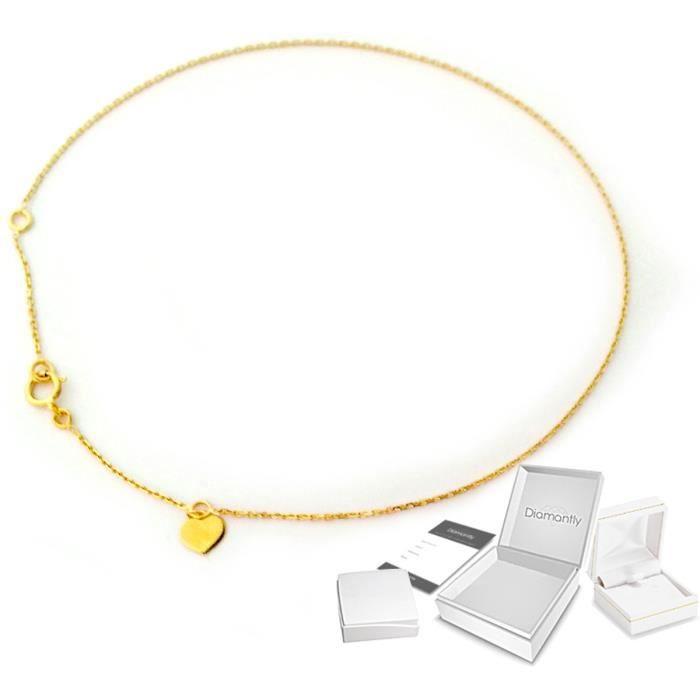 Chaine de cheville coeur or 375/1000° (9 carats)